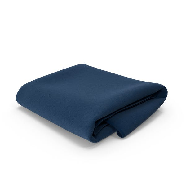 Blue Towel Folded