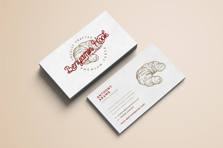Thumbnail for Bakery Minimal Business Card
