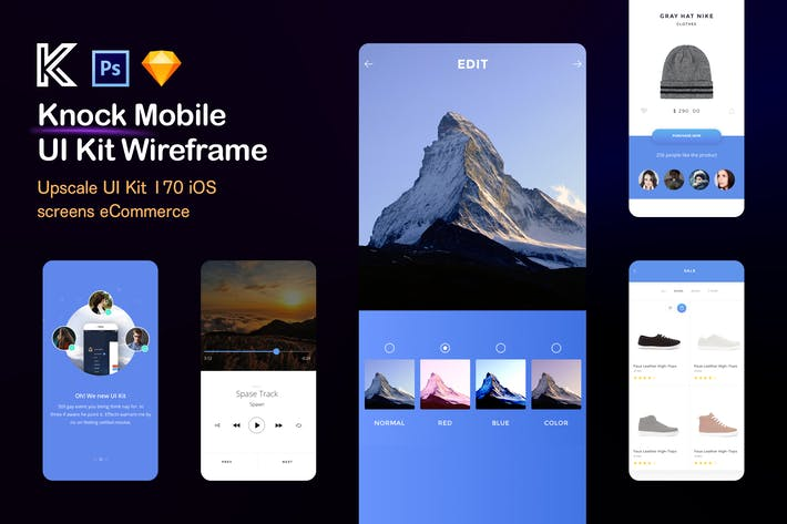 Thumbnail for Knock Mobile UI Kit eCommerce