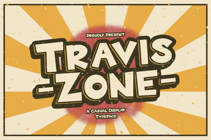 Travis Zone - Fuente de visualización lúdica