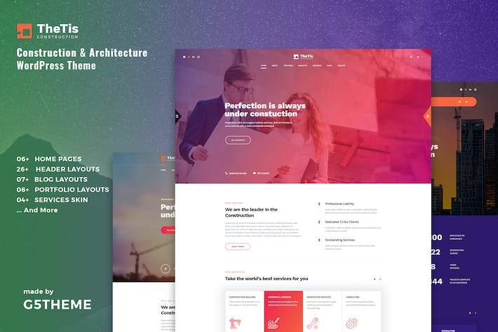 Thumbnail for TheTIs — Construction & Architecture WordPress Le