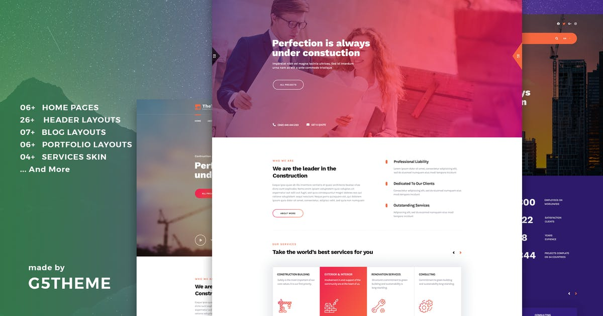 Download TheTis – Construction & Architecture WordPress The by G5Theme