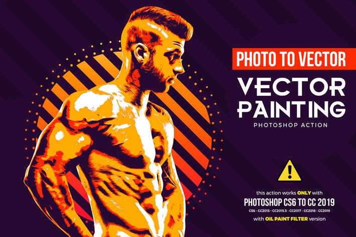 Thumbnail for Vector Painting CS6 & CC+ Photoshop Action