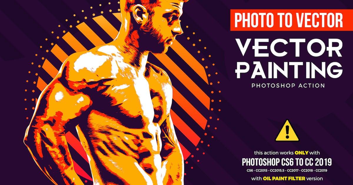 Vector Painting CS6 & CC+ Photoshop Action by Hemalaya1