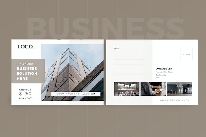 Cover Image For Business Postcard
