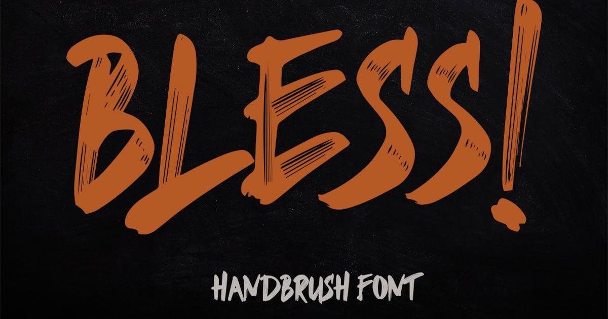Download Bless Brush Font by Skiiller_studio