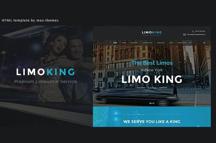 Thumbnail for Limo King - Car Hire Template
