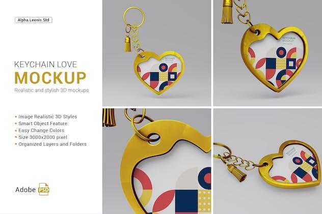 Mockup Keychain Love