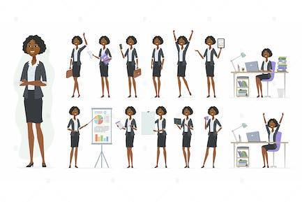 Afrikanische Geschäftsfrau - Vektor illustration