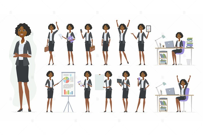 Thumbnail for African businesswoman - vector illustration