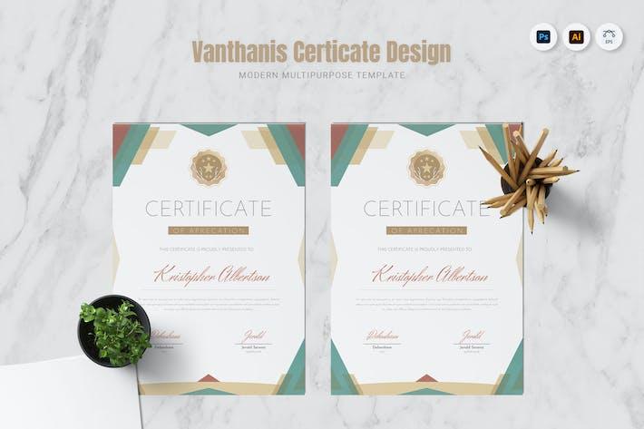 Thumbnail for Vanthanis Certificate