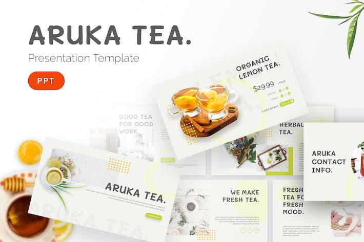 Thumbnail for Чай Арука - Шаблон Powerpoint