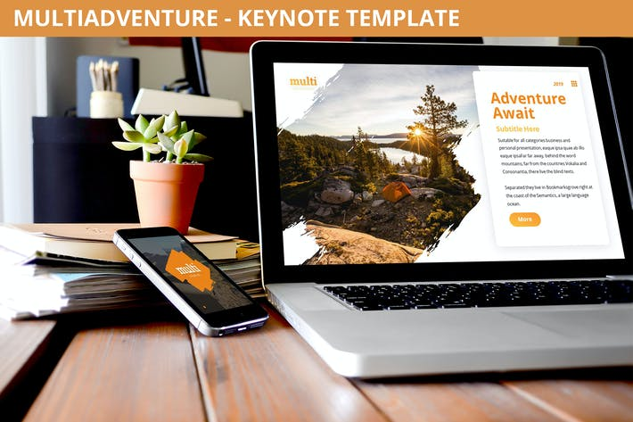 Thumbnail for MultiAdventure - Keynote Template