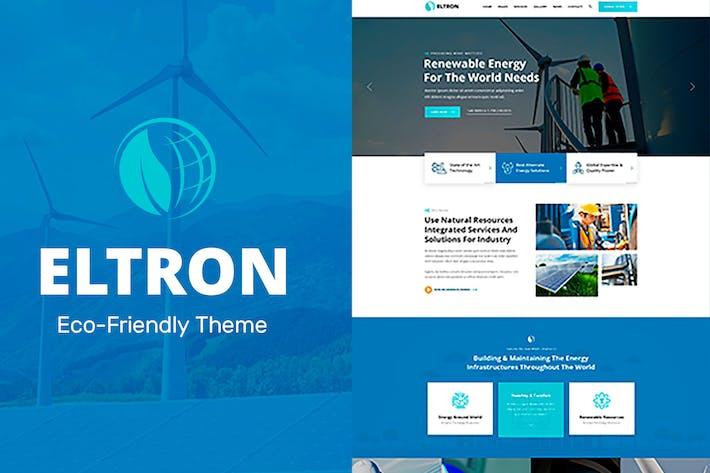 Thumbnail for Eltron - Solar Energy Elementor WordPress Theme