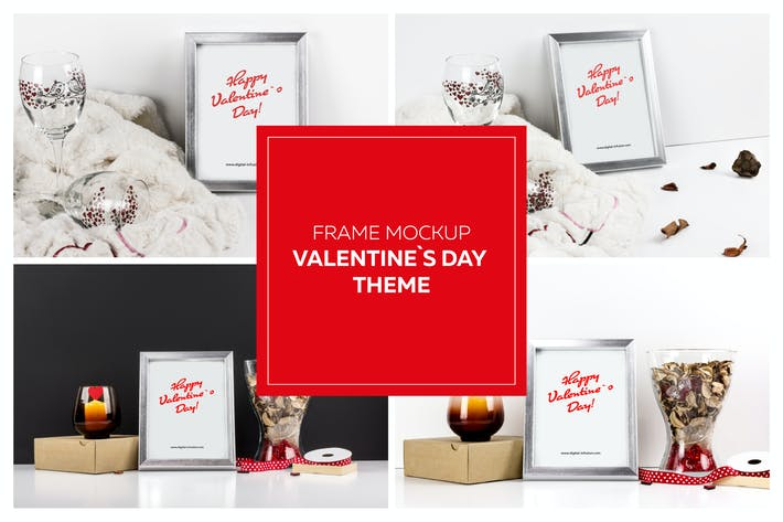Thumbnail for Frame Mockup - Valentin`s Day Theme