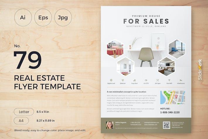 Thumbnail for Real Estate Flyer Template 79 - Slidewerk