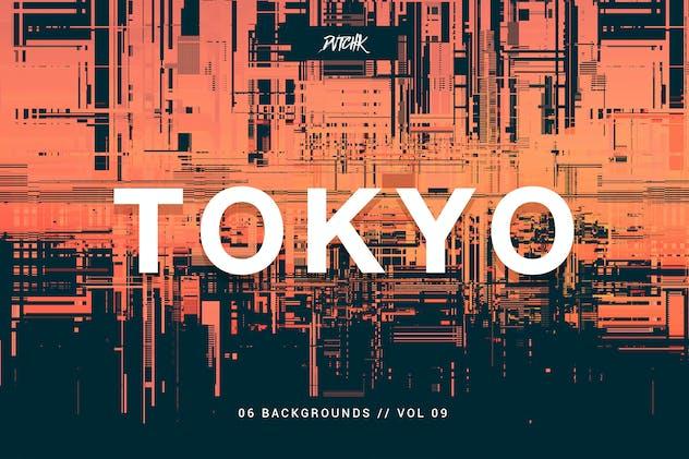 Tokyo| City Glitch Backgrounds | Vol. 09