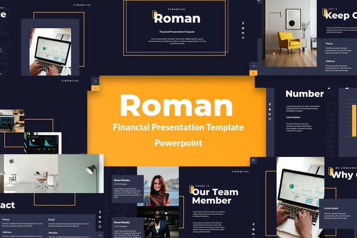 Financial & Investment Powerpoint Template