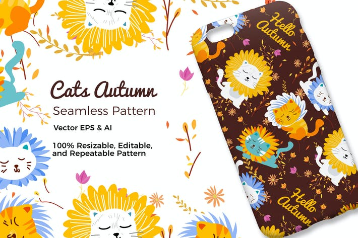 Thumbnail for Cats Autumn Pattern