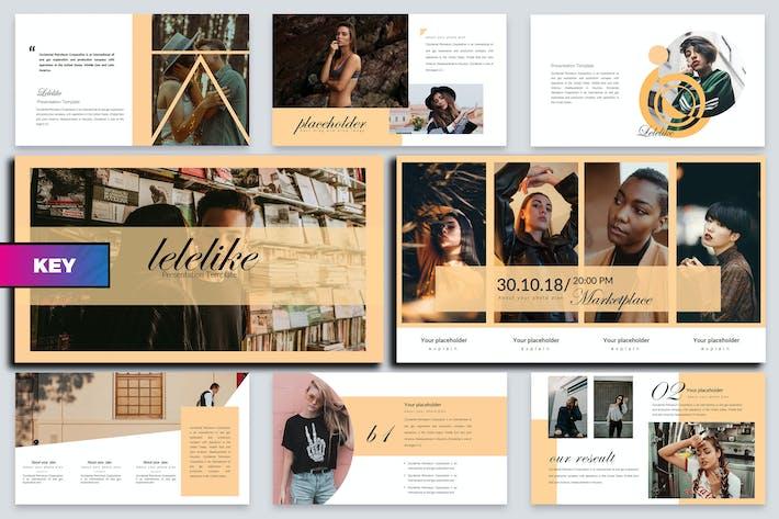 Thumbnail for Lelelike Lookbook Keynote Template