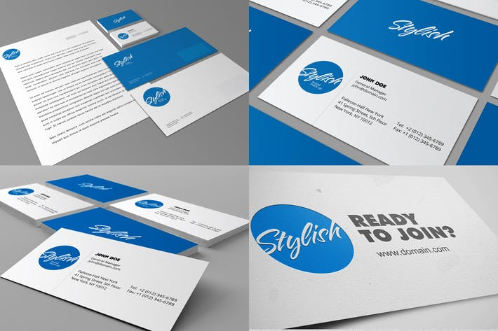 Thumbnail for Identity and Stationery Mockups