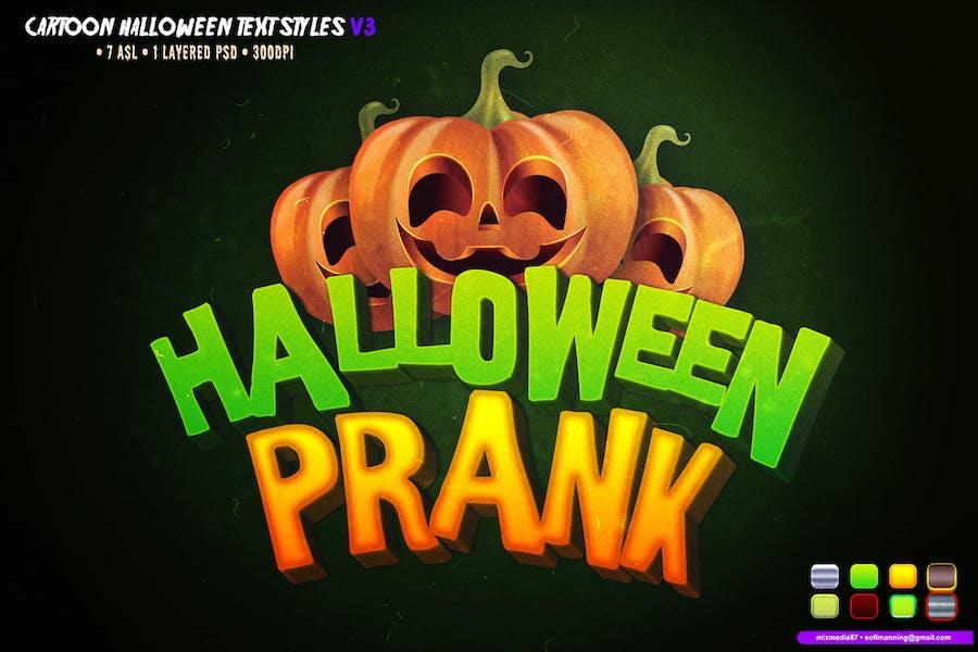 Cartoon Halloween Text Styles
