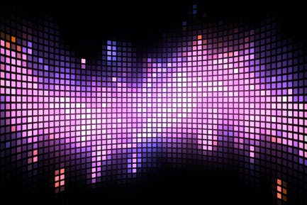 Curved Dance Light Box Background