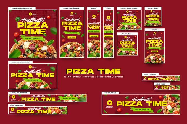 Pizza Time Banners Ad