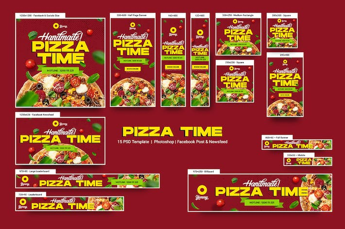 Thumbnail for Pizza Time Banners Ad
