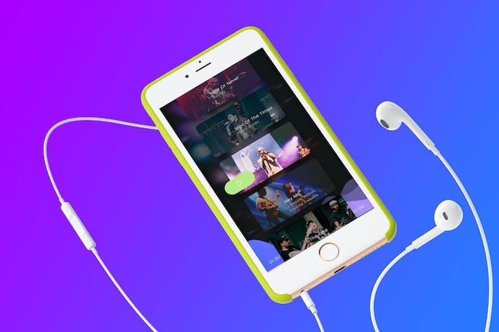 Thumbnail for Music List Mobile Ui Kit