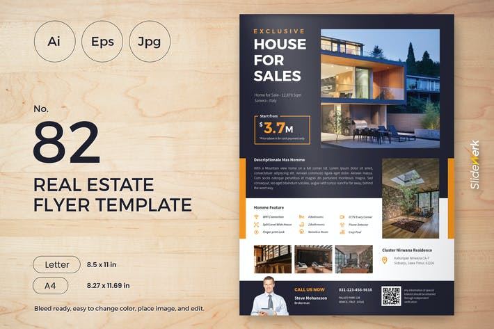 Thumbnail for Real Estate Flyer Template 82 - Slidewerk