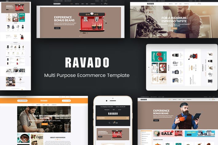 Thumbnail for Ravado - Coffee Shop Opencart Theme
