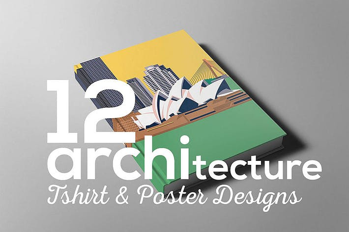 Cover Image For Architecture Poster T-shirt Set