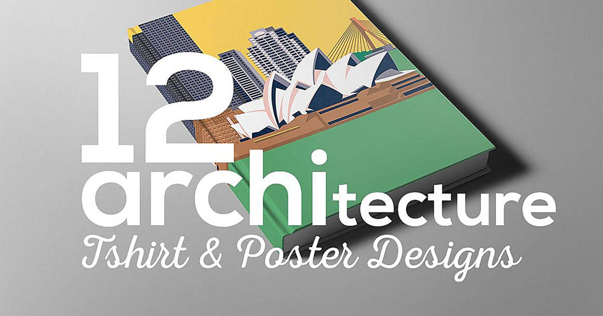 Download Architecture Poster T-shirt Set by cruzine