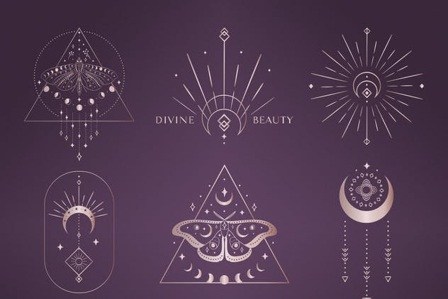 Divine Beauty Pre-Made Designs. Esoteric, mystic.