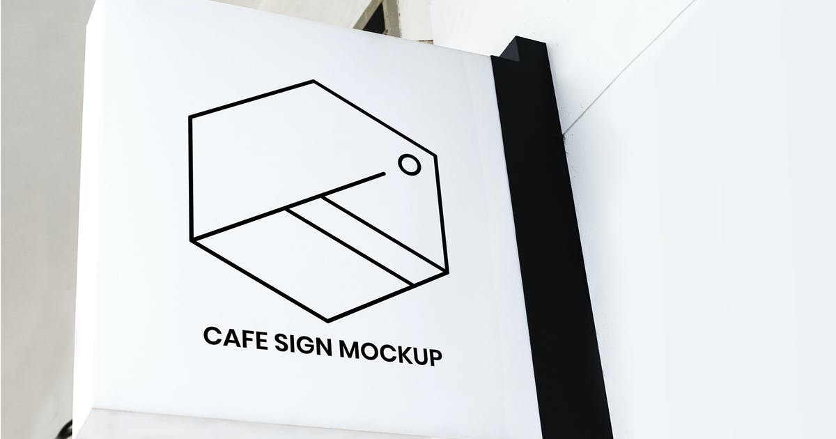 Download Minimal badge on a white sign mockup by Rawpixel