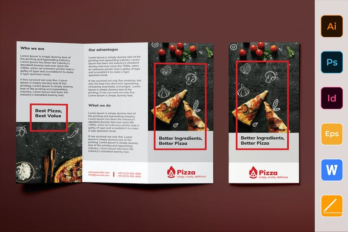 Thumbnail for Pizza Brochure Trifold