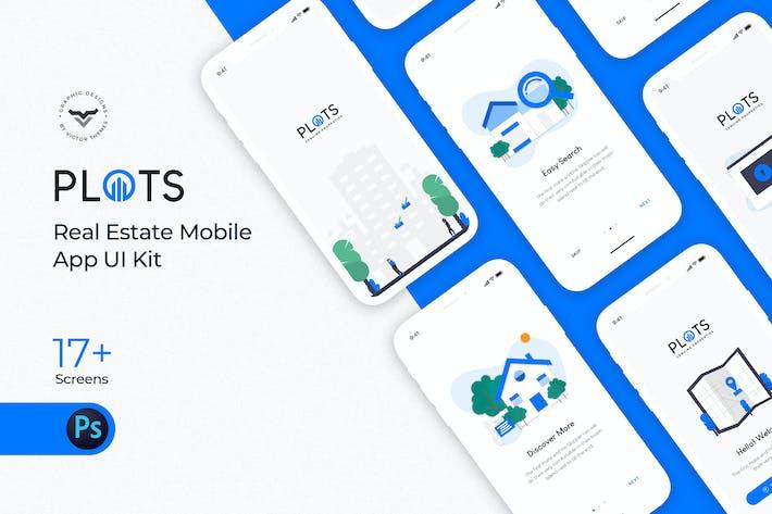 Thumbnail for Plots Real Estate Mobile App UI Kit