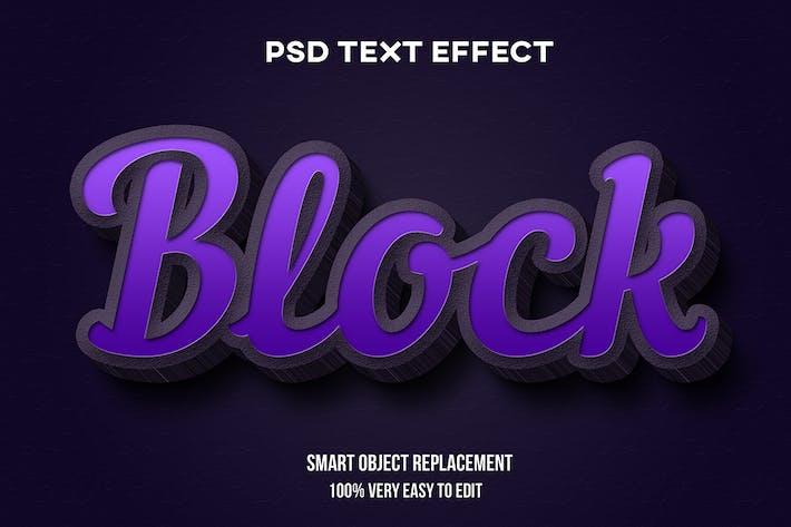 Realistic purple concrete text effect