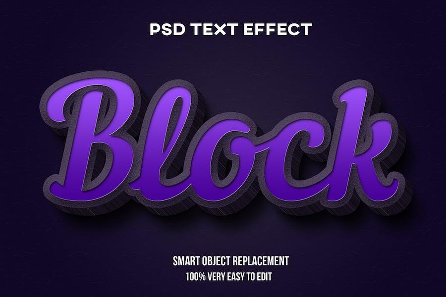Efecto realista de texto de hormigón púrpura