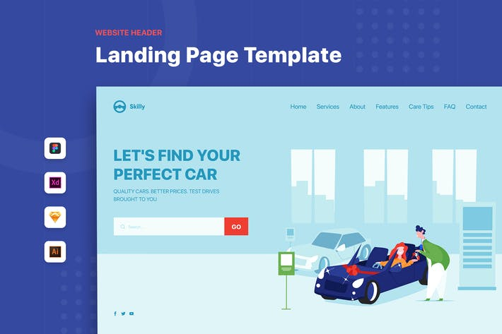 Car Dealership - Header Template