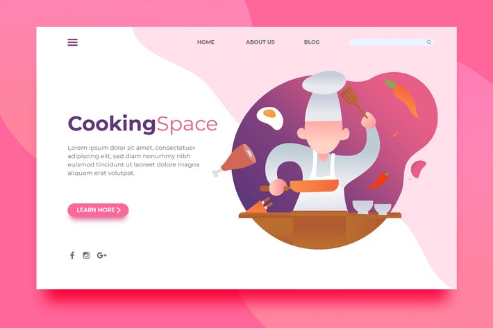 Thumbnail for Cooking Space - Landing Page