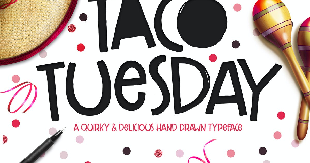 Download Taco Tuesday Typeface by MakeMediaCo