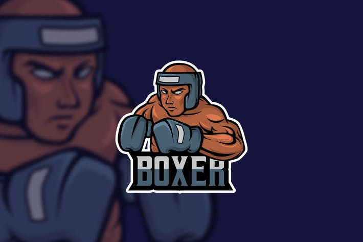 Thumbnail for Boxer - AI and PSD Esport Logo Template