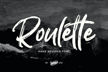 Roulette Hand Brushed Font
