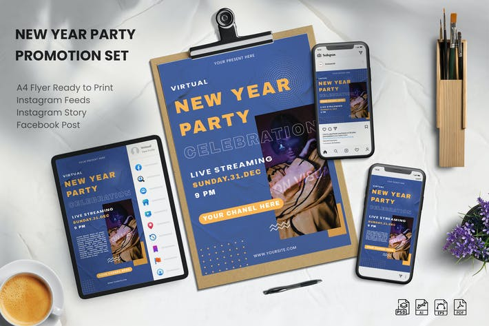 Thumbnail for Virtual New Year Party - Promotion Set
