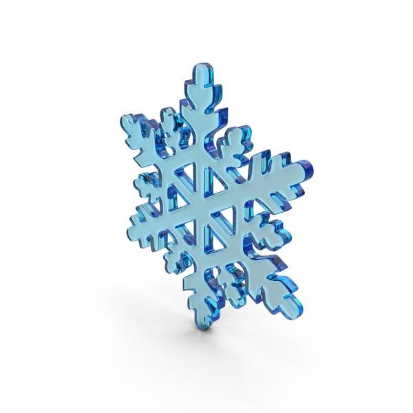 Стеклянная снежинка