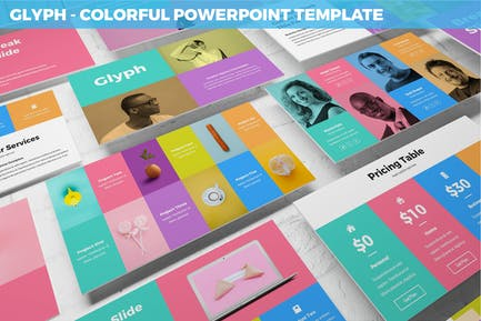 Glyph - Colorful Powerpoint Template