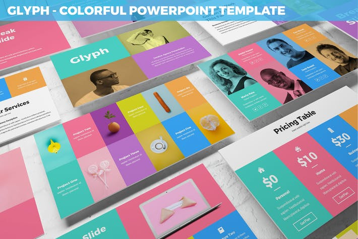 Thumbnail for Glyph - Colorful Powerpoint Template