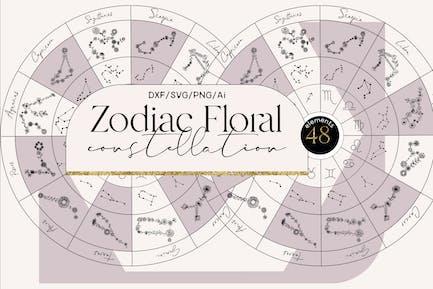 Constelación floral del zodíaco